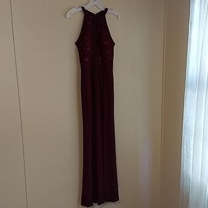 Wine Red Gown Women's Size 2
